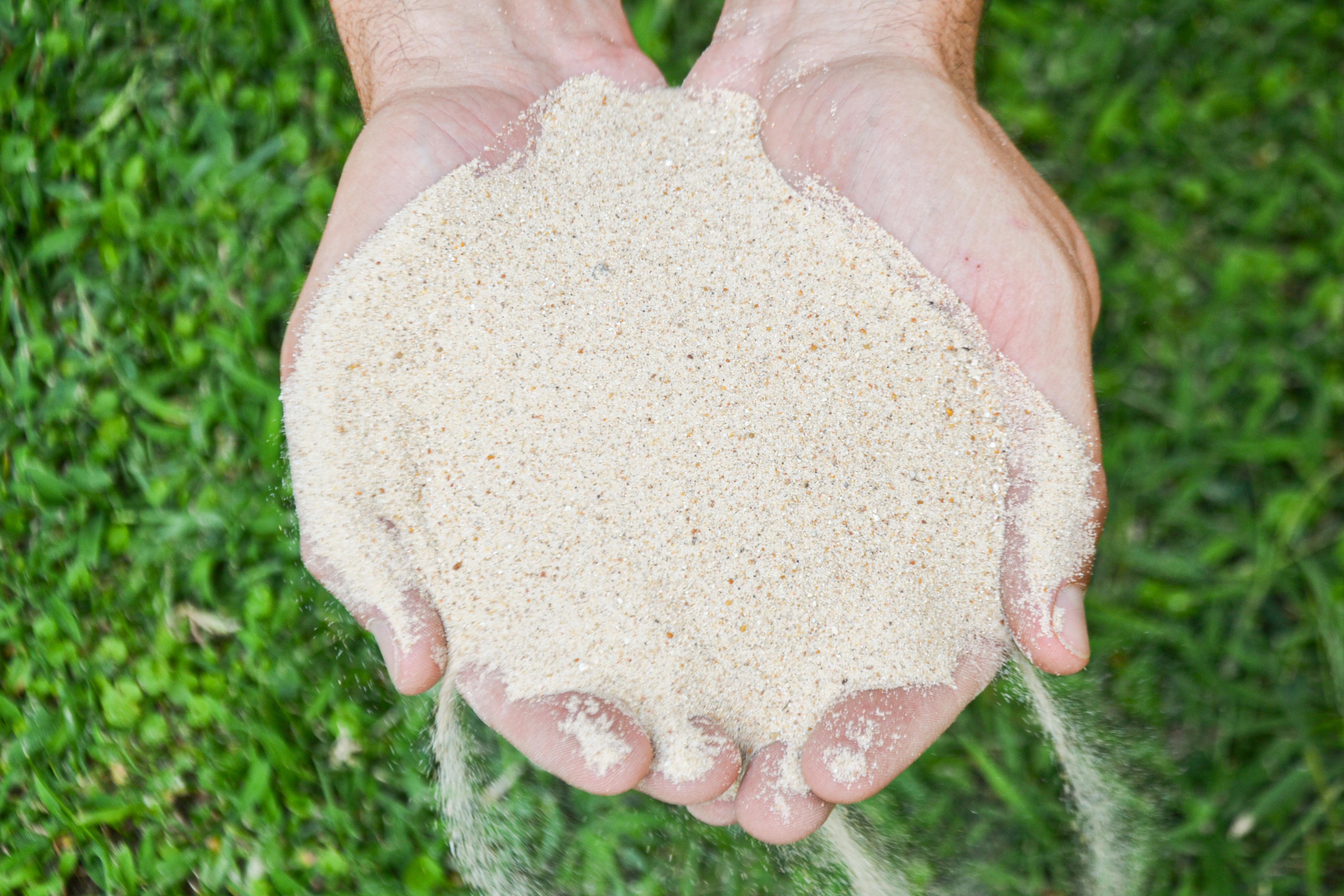 Terra Buona Per Giardino sabbia silicea - la vera sabbia silicea, non calcarea, in